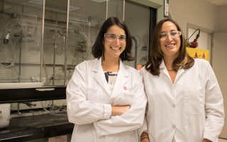 Microbiologist Kelly Wrighton and Chemist Hannah Shafaat