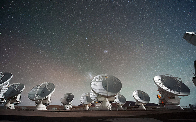 The Atacama Large Millimeter/submillimeter Array, a network of 66 radio telescopes in Chile.