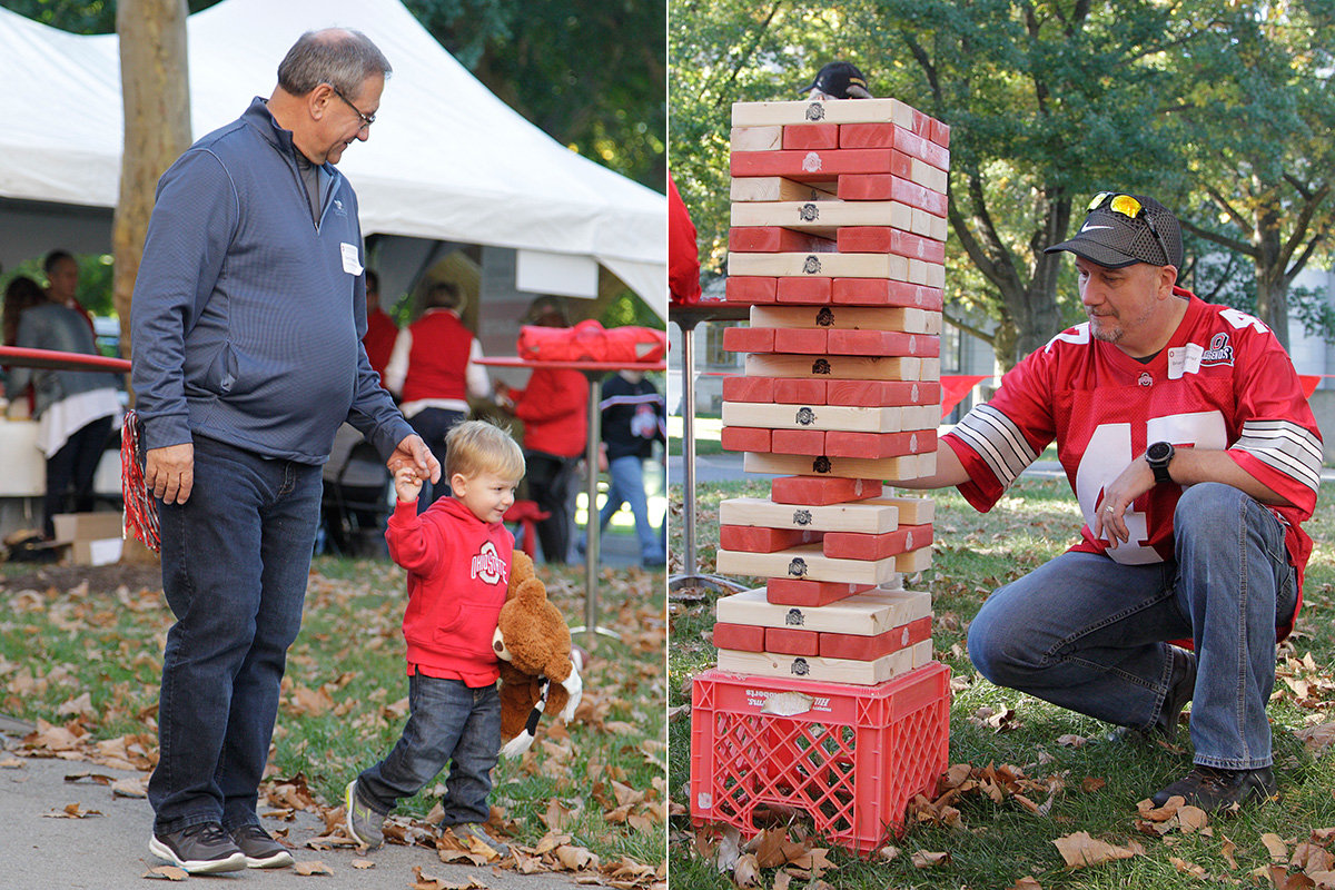 Lawn Jenga, 2015 Homecoming Tailgate