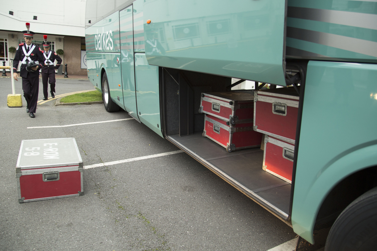 Loading the instruments on the bus