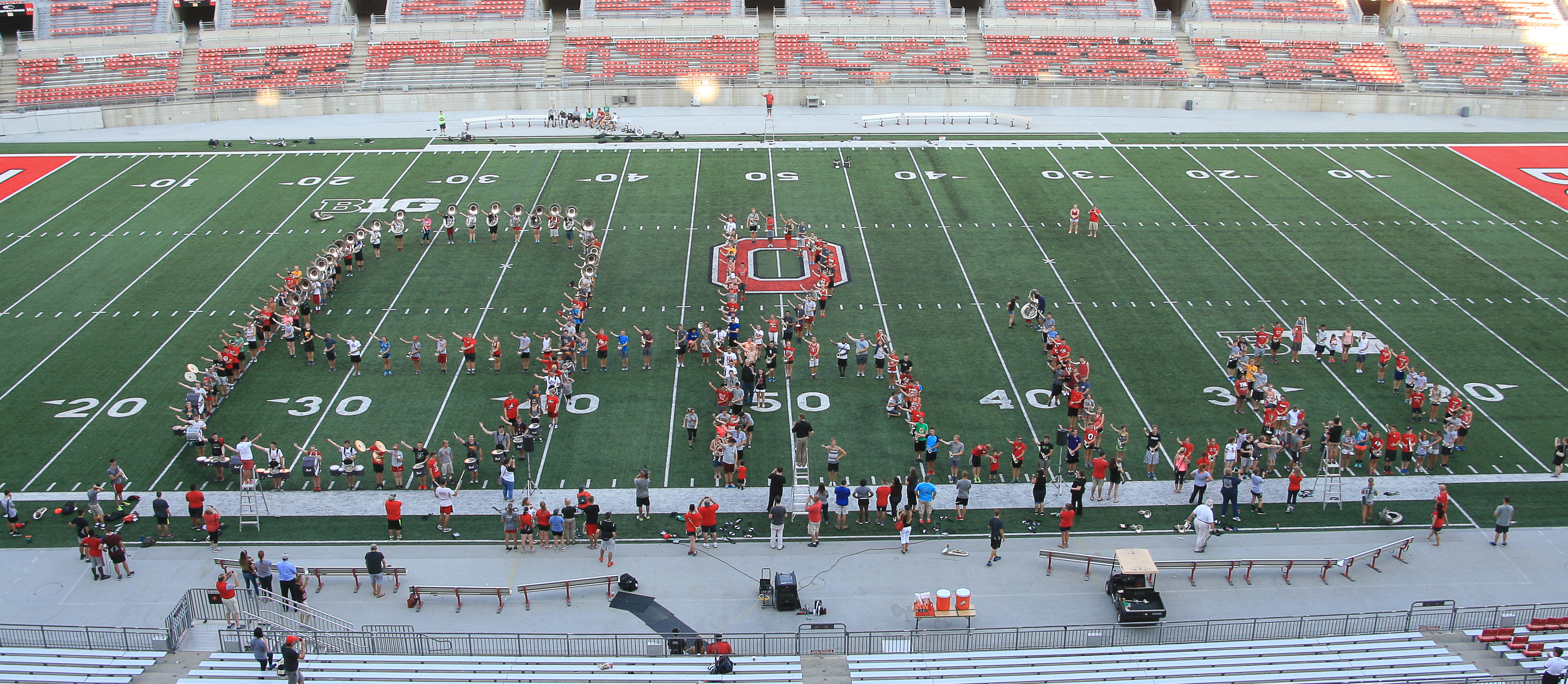 Pediatric cancer patients and families join TBDBITL in Script Ohio