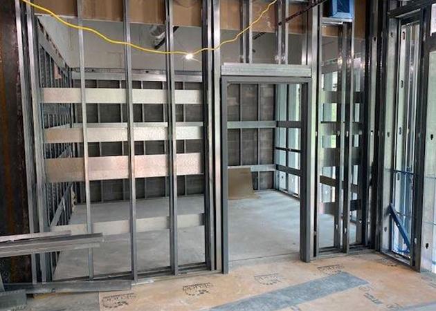 Framing progress on the second floor