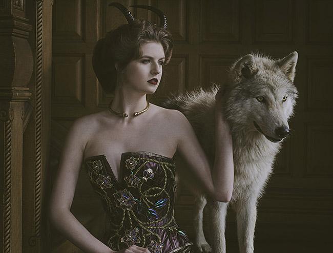 A model wears one of Boiwka's custom corsets