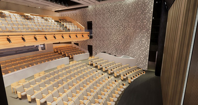 "The Department of Theatre's new building will include a proscenium stage."" title=""The Department of Theatre's new building will include a proscenium stage"
