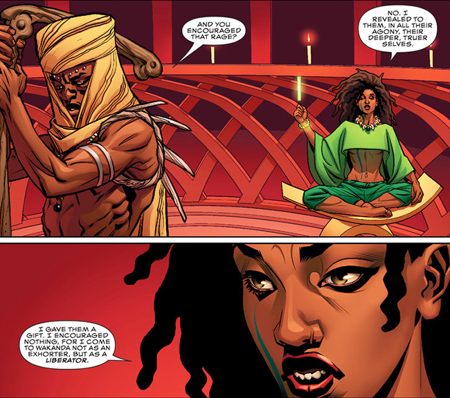 "Zenzi in ""World of Wakanda."" Courtesy of Marvel"
