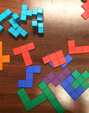 A Tetris-style puzzle that uses polyominoes comprising five squares instead of four. There's a 3D version for those wanting an extra challenge.