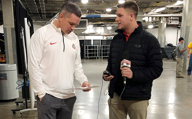 Brad Murray of 97.1 The Fan interviews Ohio State men's basketball coach Chris Holtmann.