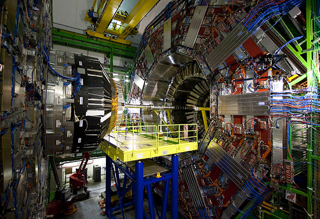 The Compact Muon Solenoid (CMS), a particle detector built on top of the Large Hadron Collider at CERN