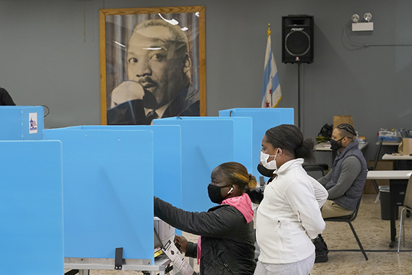People voting on Election Day 2020