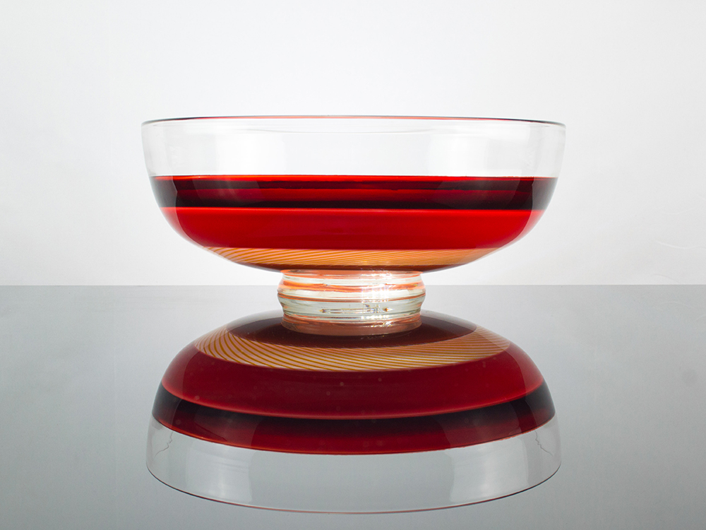 A glass bowl made by Jonathan Capps