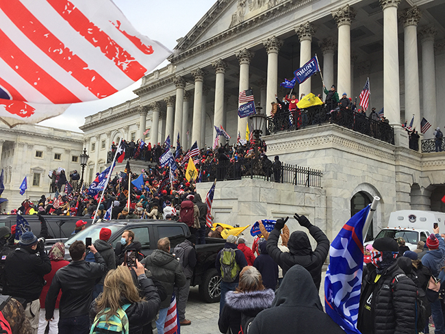Supporters of President Donald Trump storm the U.S. Capitol building Jan. 6. Photo via Wikimedia Commons