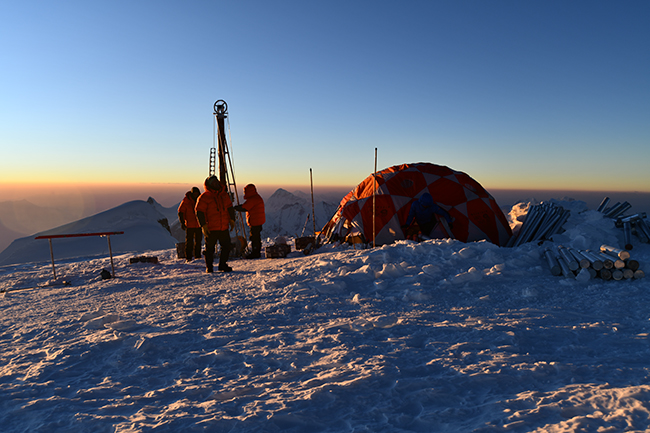 Ohio State researchers camped out in the Andes Mountains.