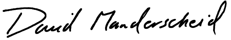 Dean Manderscheid's signature