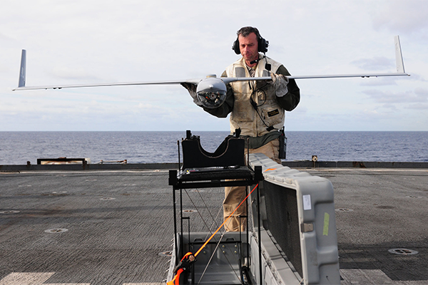 Drone on USS Comstock