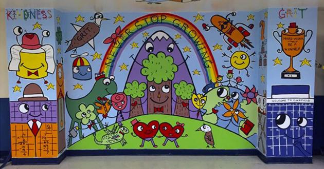 Garfield Mural