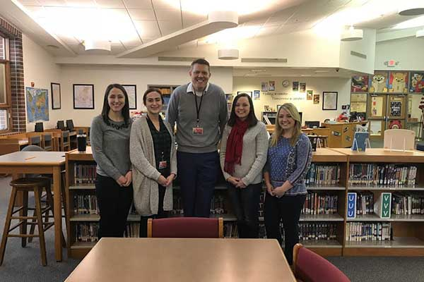 Griffin and the Marysville literacy team