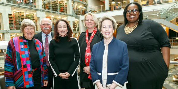 Honoring Excellence 2019 Honorees (L-R): Dee Boersma, Vince Doria, Patricia Heaton, Jan Box-Steffensmeier, Gifford Weary, Sabrina Hersi Issa