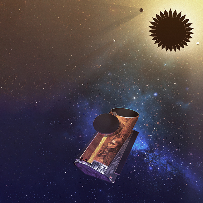 "The Habitable Exoplanet Observatory (HabEx) would employ a flower-shaped device called a ""starshade"" that would be launched in front of the telescope, allowing it to directly image and assess Earth-like planets around sun-like stars."