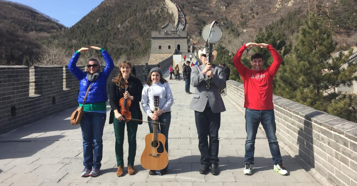 Performers at Great Wall of China