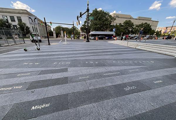 New 'friendship' translation art installation at University Square