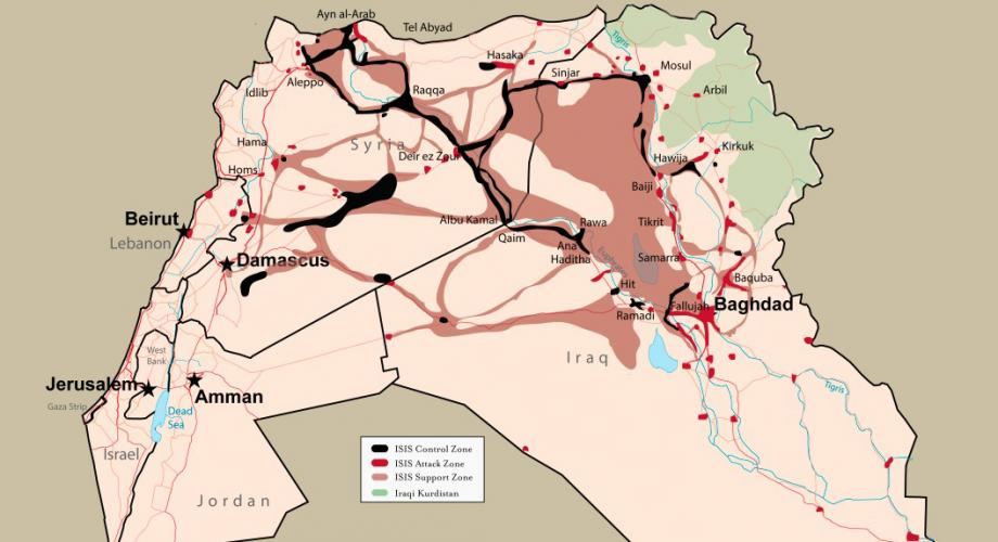 ISIS Sanctuary July 2015_Iraq and Syria Map