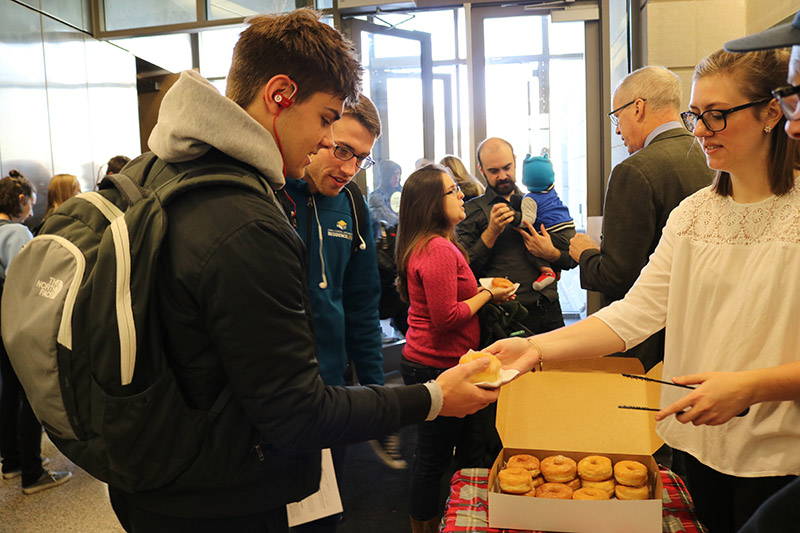 Donuts with the Dean, Dec. 2016