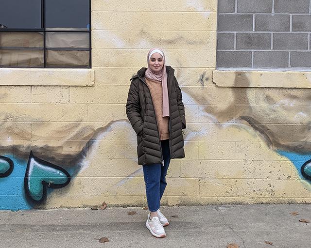 Loulwa Alkaisi outside Wild Goose studio