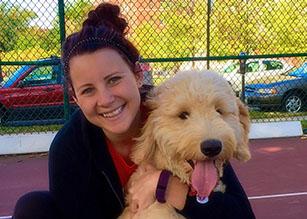 Lynn Agee with Dog