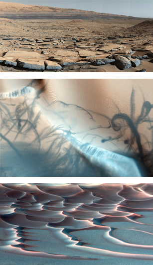 Surface of Mars; photos courtesy of NASA