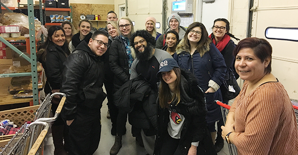 """Students of Elena Foulis' course, """"Spanish in Ohio: An Experiential Course"""" at the Our Lady of Guadalupe Center in 2018."""