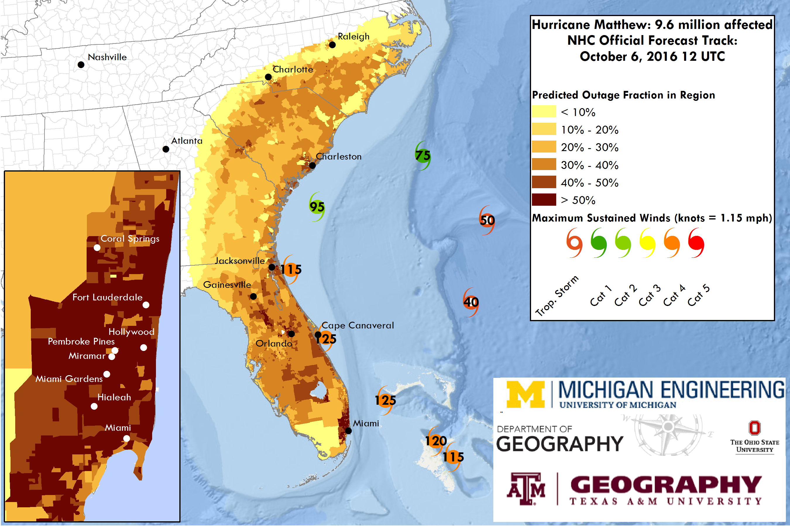 Geographer Develops Go To Power Outage Forecasts For Hurricane