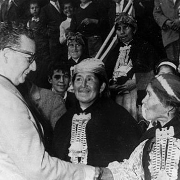 President Salvador Allende meeting Mapuches women
