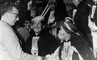 President Salvador Allende meeting Mapuches women