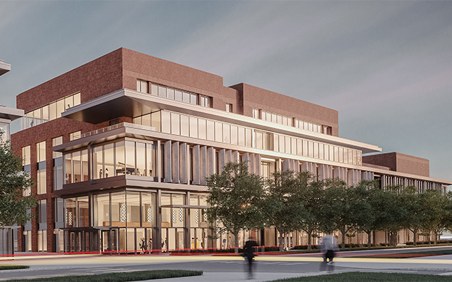 External rendering of new music building
