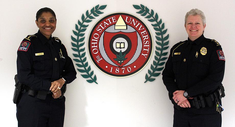 Chief Kimberly Spears-McNatt and Deputy Chief Tracy Hahn