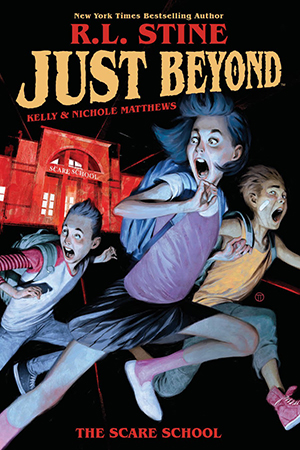 R.L. Stine's newest book, Just Beyond: The Scare School