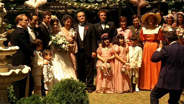 Godfather wedding scene