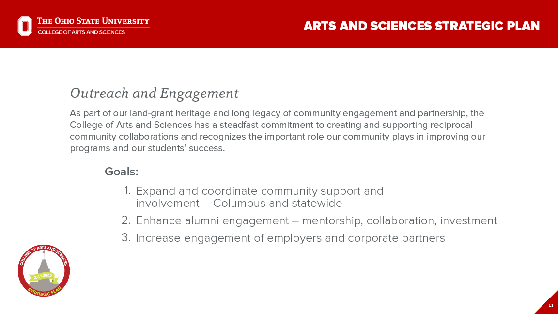 Strategic Plan Focus Area 3: Outreach and Engagement
