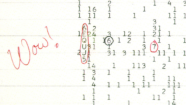 "In 1977, a curiously unusual signal was detected at the Ohio State Radio Observatory. Astronomer Jerry Ehman wrote ""Wow!"" next to the finding, leading to the signal's name."