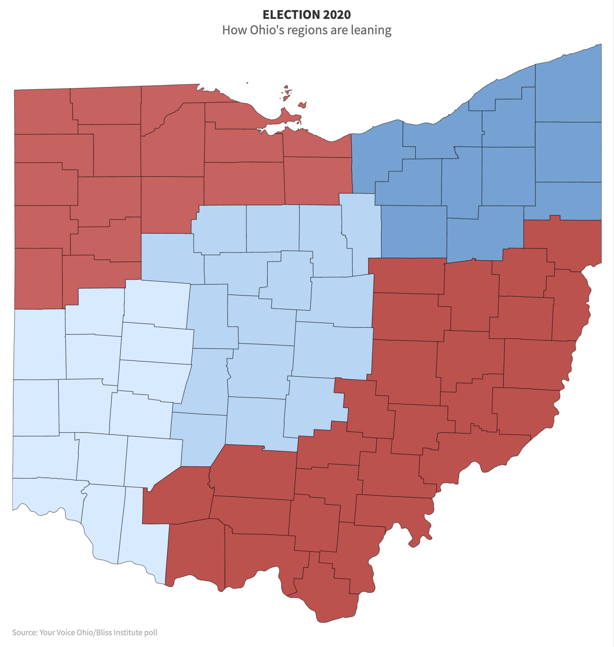 Ohio Democrat or Republican map