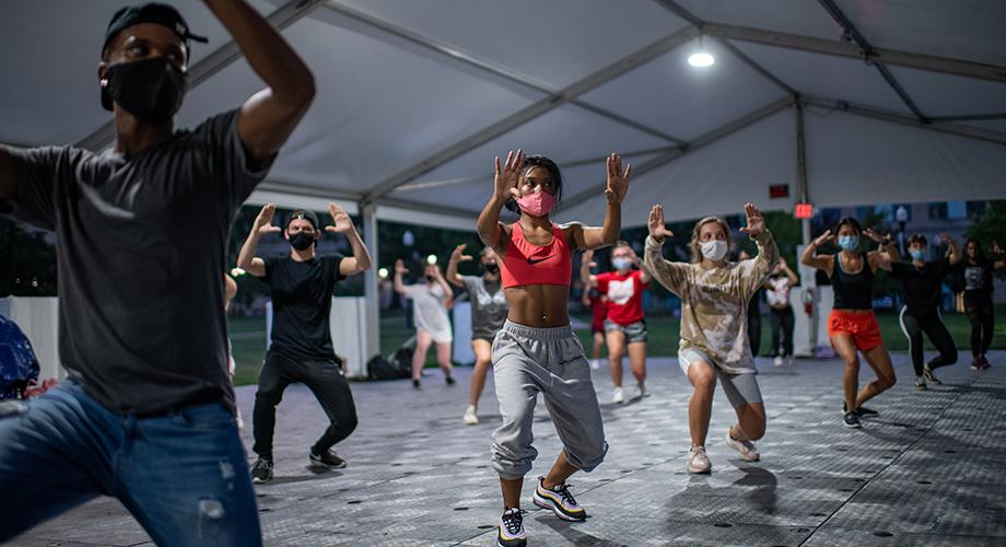 Dance class art tent