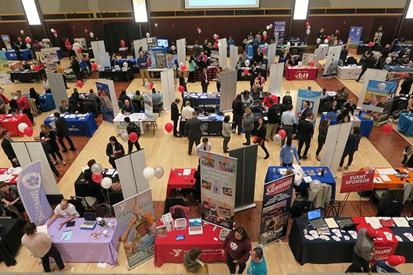 Summer Internship and Opportunity Fair - Overhead photograph
