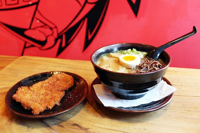 Fukuryu Ramen patrons can choose from traditional ramen dishes such as tonkatsu, miso or shoyu to more modern ramen bowls like the Red Dragon Ramen or the Junk Ramen
