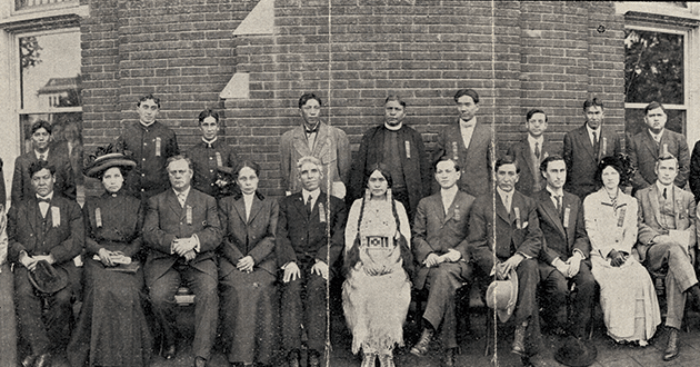 Members of first Society of American Indians.