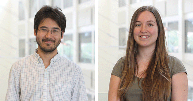 Chris Hirata (left) and Annika Peter (right) join the CCAPP team.
