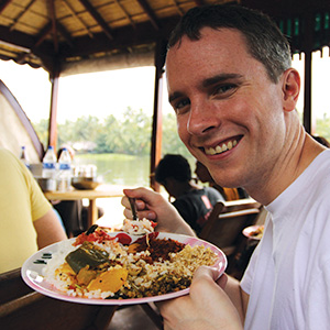 Matt Bain in India.
