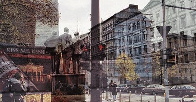 Semi-transparent pictures of Berlin laid over each other.