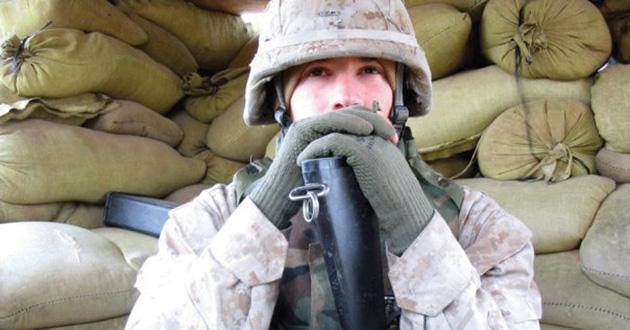 Chad McMahon in Iraq.