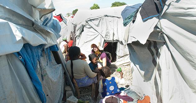 Molly Farrell in Haiti.