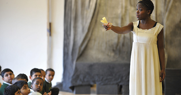 Debbie Korley as Ophelia.